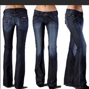 Hudson boot cut button flap pocket jeans 28
